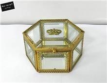 קופסת תכשיטים זהב משושה