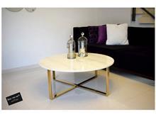 שולחן לוק זהב שיש אופווייט - רקפת ספיר R.H.S