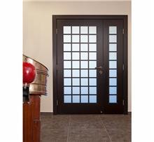 דלת חזית משולבת זכוכית