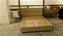 בסיס מיטה זוגית קרם