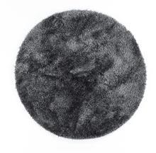 שטיח שאגי עגול ברוז' אפור