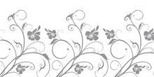הדפס זכוכית פרחים אפור