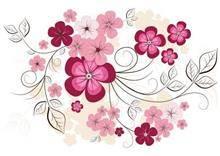 א.ר. שיווק - הדפס זכוכית פרחים צבעוניים