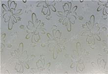 זכוכית מעוצבת פרחים