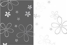 זכוכית מעוצבת פרחים בשילוב מראה - א.ר. שיווק