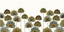 א.ר. שיווק - זכוכית מודפסת פריחה ירוקה