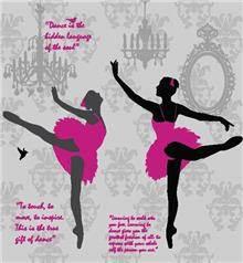 א.ר. שיווק - חיפוי לקיר רקדנית בלט