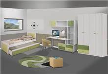 חדר ילדים בגוון ירוק