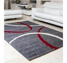 שטיח שאגי מעוצב אפור אדום - buycarpet