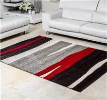 שטיח אבסטרקטי אדום אפור - buycarpet