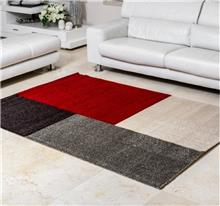 buycarpet - שטיח מלבנים אדום אפור