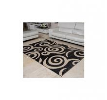 שטיח ריאליטי עיגולים אפור