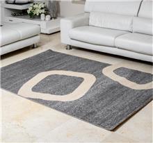 שטיח ריאליטי ריבועים אפור
