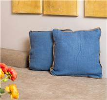 buycarpet - כרית נוי יוטה כחול