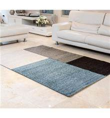 buycarpet - שטיח מלבנים כחול בז'