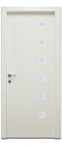 דלתות אלון - דלת 6 חלונות מרובעים