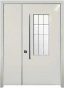 דלת כניסה מודרנית קרם
