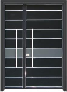 דלת כניסה מודרנית שחור