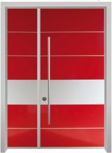 דלתות אלון - דלת כניסה הייטק אדומה