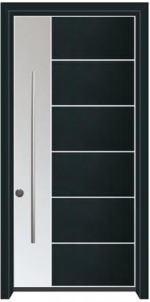 דלת כניסה הייטק כחול כהה