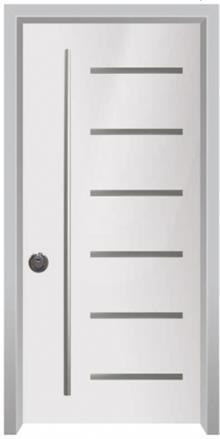 דלתות אלון - דלת כניסה עדן לבנה