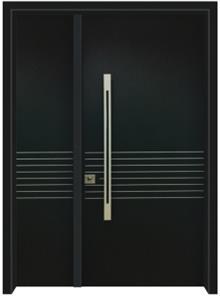 דלתות אלון - דלת כניסה עדן שחורה
