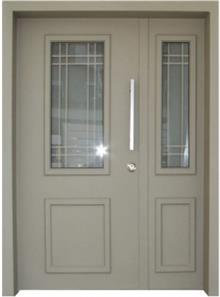 דלת כניסה פנורמי בז