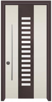 דלת כניסה נפחות שחור לבן