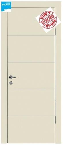 דלתות אלון - דלת 4 פסי ניקל לרוחב