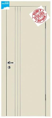 דלת 3 פסי ניקל לאורך - דלתות אלון