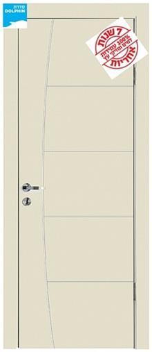 דלתות אלון - דלת פנים פסי ניקל חץ וקשת