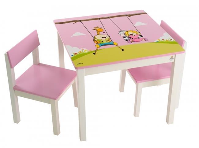 סט שולחן גיאצ'וק ורוד