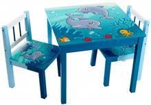 שולחן כחול דולפין