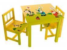 שולחן צהוב חיות