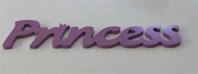 מילה מעוצבת PRINCESS סגול