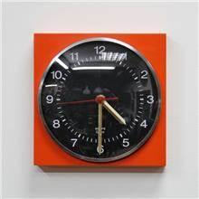 שעון קיר וינטאג' כתום