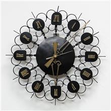 Fibers - שעון קיר וינטאג' שחור