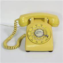 Fibers - טלפון חוגה וינטאג' צהוב