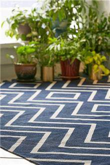 שטיח רטרו זיגזג כחול - Fibers