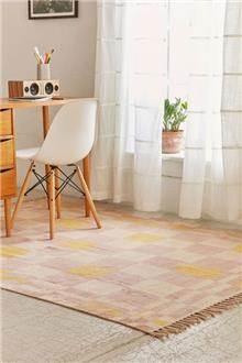 Fibers - שטיח רטרו ורוד וצהוב
