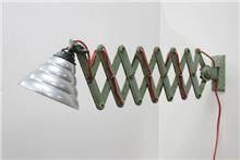 מנורת קיר תעשייתית ירוקה - Fibers