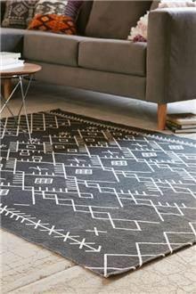 Fibers - שטיח רטרו שחור