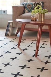 שטיח פלוסים בצבע שמנת - Fibers