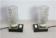 זוג מנורות קריסטל - Fibers