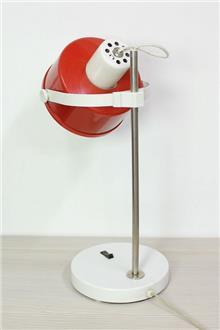 מנורת שולחן וינטאג' אדומה - Fibers