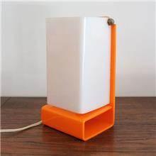מנורת קיר/שולחן כתומה - Fibers