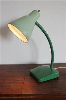 Fibers - מנורת שולחן וינטאג' ירוקה