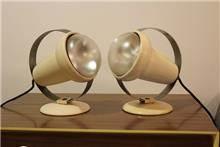 Fibers - זוג מנורות לילה גדולות ממתכת