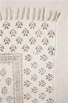 שטיח גאומטרי פרחוני בשנהב - Fibers