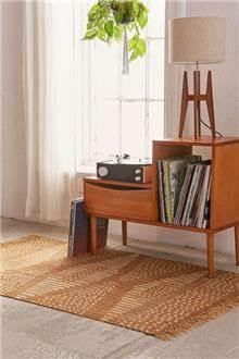 Fibers - שטיח סקנדינבי כתום לבן